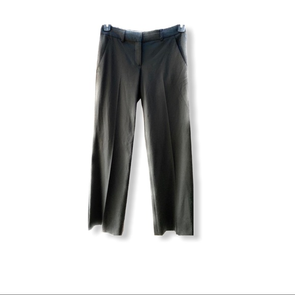 THEORY Wool Blend Trousers Black